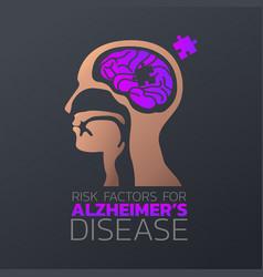 risk factors for alzheimers disease icon design vector image