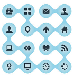 Set of simple web icons elements constructing vector