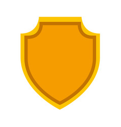shield emblem isolated icon vector image