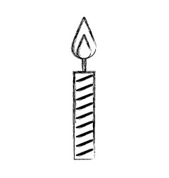 sketch draw birthday candle vector image