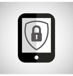 smartphone padlock lock security vector image