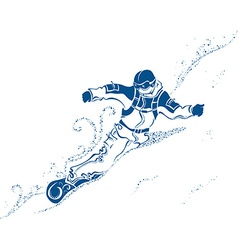 Snowboard extreme vector