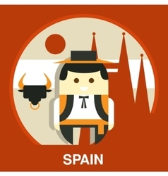 Spanish Traditional Man vector image