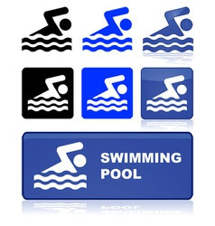 Swimming sign vector image
