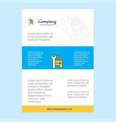 template layout for car garage comany profile vector image