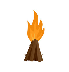 Tepee fire icon flat style vector