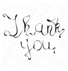 Thank you handwritten vector image