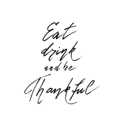 Thanksgiving lettering calligraphy vector