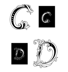 Title letters C and D vector image