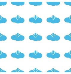 Unique Download cloud seamless pattern vector image