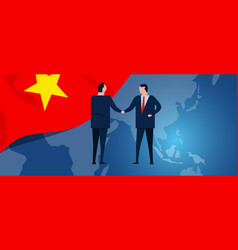 vietnam international partnership diplomacy vector image