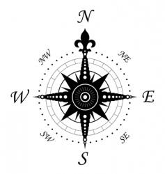 Vintage compass symbol vector