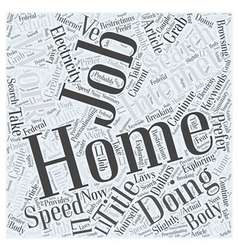 Work At Home Internet Job At The Speed Of vector