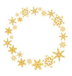 wreath of christmas snowflakes splash of a random vector image
