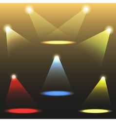 colorful light sources set vector image vector image