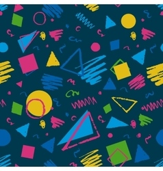 Dark blue geometric pattern vector image vector image