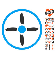 drone screw icon with love bonus vector image