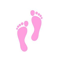 foot logo template vector image vector image