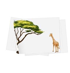 giraffe paper template vector image