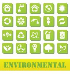 green icons environmental plate vector image vector image