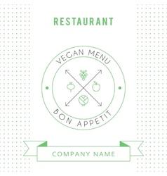 Restaurant vegetarian menu card design template vector