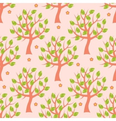 Seamless pattern with summer trees vector