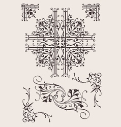 Set Of Ornate Design Elements vector image vector image