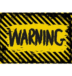 warning vector image vector image