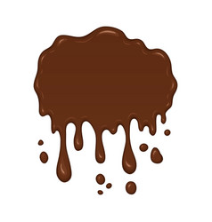 - brown splash liquid vector image vector image