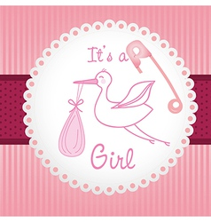 label baby shower background of green lines is a g vector image