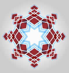 Red festive christmas star vector image