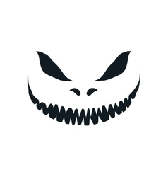 Scary face isolated on white background vector image