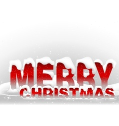 snowy merry christmas vector image vector image