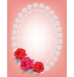 Frame with roses vector image