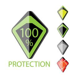 futuristic shield vector image vector image
