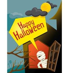 Halloween Mummy and Window vector image vector image
