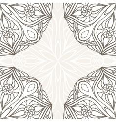 Ornamental corner lace frame vector image