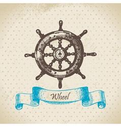 Ships wheel vector image