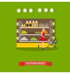 supermarket interior vector image vector image