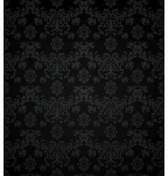Wallpaper pattern black seamless vector image