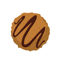 Cookie snack dessert vector