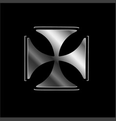 glowing cross pattee symbol of christianity vector image
