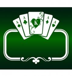 Poker frame vector