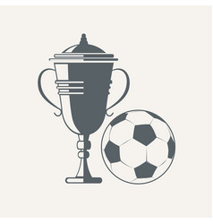 soccer cup and ball vector image