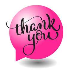 thank you text with round red ball frame on vector image