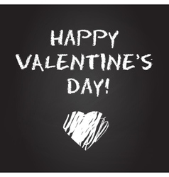 Valentines day chalboard background vector image vector image