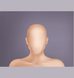 3d realistic human model head without face vector