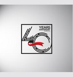 40 years anniversary logotype flat style vector