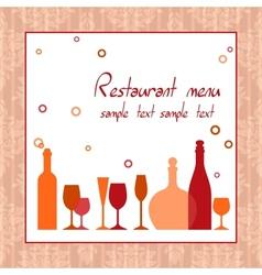 Alcohol bar or restaurant menu vector image