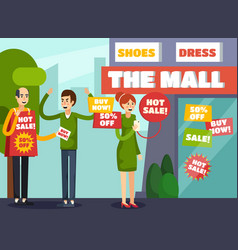 annoying intrusive advertisement composition vector image